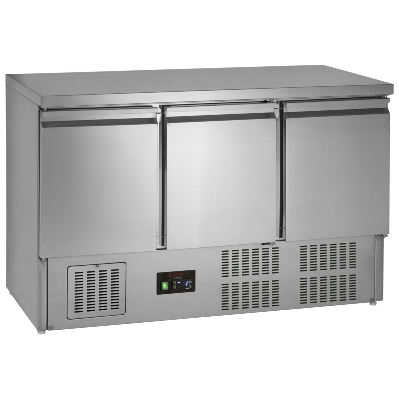 3 Door Counter Prep Fridge